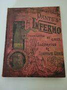 1901 Dante's Inferno Gustave Dore Engravings Hell Satan Occult Bible Folio Book