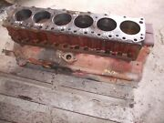 Farmall Ih 806 Gas Tractor 301 Gas Engine Motor Block W/ Sleeves And Caps