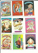 9 Different 1986 Garbage Pale Kids Cards 2