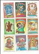 9 Different 1986 Garbage Pale Kids Cards 3