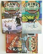 3 Tc Lotempio Mystery Books Crime And Catnip, Claws For Alarm, Meow If It's Murder