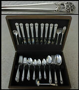 63 Pc Value 1135 Eternally Yours 1941 Silver Plate Set 1847 Rogers Bros W Chest