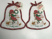Vintage Holly Hobbie Christmas Holiday Wishes Hot Pads 2 - Original Tags