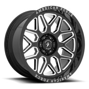4 22x10 Black American Force Ac001 Rush Wheels Rims 6x135 Ford F150 Expedition