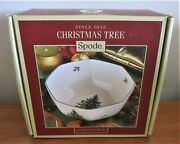 Spode Christmas Tree Pattern Octagonal Bowl 8 New In Box