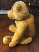 Vintage Antique Steiff Mohair Jointed Teddy Bear No Button Growler As Is