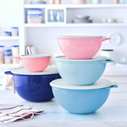 Tupperware Thatsa Bowls 6 12 19 32 And 42 Cup Mixing Storage Serving Pinks And Blues