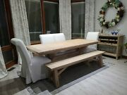 Pottery Barn Toscano Table Bench Wine Bar With 4 Pb Comfort Roll Chairs