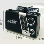 X Bass Am Fm Radio Portable Bluetooth Speaker With Led Light And Solar Charge Yg