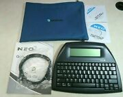Alphasmart Neo2 Portable Word Processor With Software Cable Manual And Case
