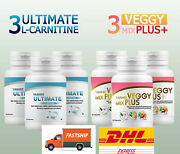 3x Yanhee Ultimate L-carnitine And 3x Yanhee Veggy Mix Plus Weight Loss Detox