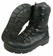 German Army Para Boots Military Issue Black Leather Combat Boots Size 11 Used