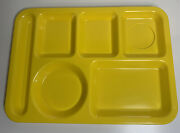Texas Ware Usa Yellow 6 Section Melamine 14x10 School Lunch Tray