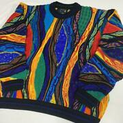 Vintage Coogi Wool Knitted Sweater Size Medium Made In Australia Multicolor Rare