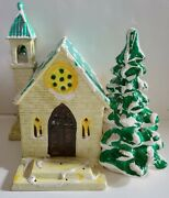 Dept 56 Stone Church Original Snow Village Snowhouse Retired Light Included '80