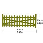 Military Miniature's 1/72 Scale Plastic Farming Fence 2 - Pack - 5033b