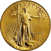 Lot Of 10 1997 5 1/10 Oz American Gold Eagles Brilliant Uncirculated Coins