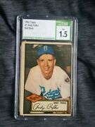 1952 Topps Andy Pafko 1 Csg 1.5 Brooklyn Dodgers Topps First Baseball Card