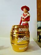 Jim Beam Iajbbsc 2103 Cowgirl In Red With 22k Gold Barrel Decanter Only 30 Made