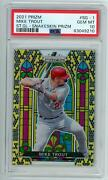 2021 Panini Prizm Mike Trout Stained Glass Snakeskin 13/50 Psa 10 Gem Mint Pop 1
