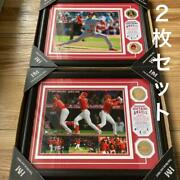 Shohei Ohtani Bronze Coins Photo Mint Plaque First Pitch Home Run Set Of