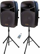 Lps-312 Pa Speaker System Combo Set With Bluetooth/usb/sd Card Reader/fm Radio