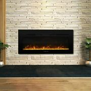 40and039and039 Electric Fireplace Insert Wall Mounted Electric Heater Touch Screen 1500w