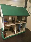 Antique Solid Wood Colonial Style Dollhouse House