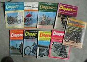 Lot Of 9 Different Vintage 1970-72 Choppers Motorcycle Magazines