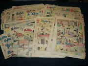 1930and039s-1940and039s Smitty Color Comic Strips Huge Lot Of 120 - Np 5335
