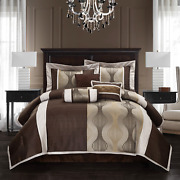 Luxury Modern 200 Thread Abstract 7 Pieces Comforter Setspillows Bed Skirt Full