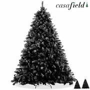 Black Spruce Realistic Artificial Holiday Christmas Tree With Metal Stand