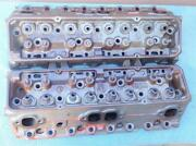 Oem Gm 3927186 Cylinder Heads Small Block Chevy Camel Hump 1969-1970 302 350 Wow