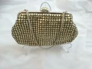 Vintage Foleyand039s Rhinestone Purse With Chain Made In West Germany