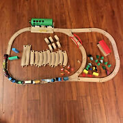 Thomas The Train Mix Lot Of 82 Pieces Diecast Trains Wood Tracks Station Extras