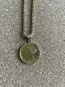 1880 5 Gold Liberty Coin Pendant Necklace