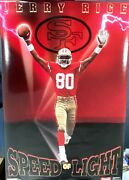 Jerry Rice Sf 49ers Speed Of Light 1991 Costacos Bros. Poster 35x23