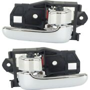 Interior Door Handle For 97-2001 Toyota Camry 98-2003 Sienna Set Of 2 Chrome