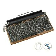 Typewriter Keyboard Wireless Bluetooth Rgb Colorful For Tablet Laptop S8f3