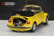 1/8 Vw Volkswagen Beetle Yellow Cabrio Metal Kit Le100 By Legrand Pocher Scale