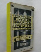 Automobile History Cars French Auto Show Trade Catalog Motorcycles Illus. 1927