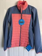 Nwt Womenandrsquos Columbia Track Lines Hybrid Jacket Xs Pink Coral Blue