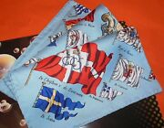 Hermes Scarf Pavois By Ledoux / Rare Collection Silk Pocket Scarf Hermes