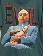 Vintage 90's Austin Powers Dr Evil Movie Tee T Shirt Size L Made In Usa
