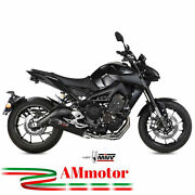 Full Exhaust System Mivv Yamaha Mt-09 2014 - 2020 Motorcycle Oval Carbon Cap