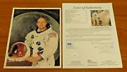 Neil Armstrong Astronaut Signed 8x10 Nasa Photo With Full Jsa Letter