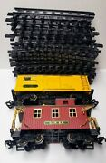 Great American Express G Scale Denver Express Box Car And Caboose New Bright 1986