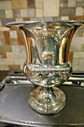 Wm Rogers Silver Plate Champagne Ice Bucket/trophy Style/urn 10 Tall 2 Handles