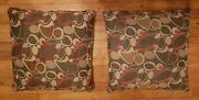 Pair 2 Mid Century Atomic Style 50and039s/60and039s Sofa Throw Pillows