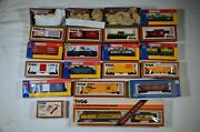 Tyco Ho Scale Model Trains -- A Big Lot Of Freight Cars Locos And Structures